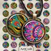 1 inch (25mm) circle images DECOART Digital Collage Sheet printables for pendants magnets bottle caps bezel settings art cult craft designs