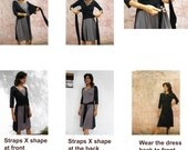 Womens Wrap dress-Long sleeves womens dress-Convertible dress-Winter/fall dress-Knee length dress-Casual dress