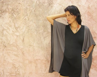 women's blouse in 2 colors-oversized  tunic galabia- mini dress galabeya-Mix and match your colors