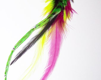 Clip on Feather Extension, Hair Clip, Clip in Feathers, Clip On Feathers, Feather Clip, Feather Extension, Hair Extension, Hair Accessories