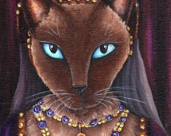 Tudor Queen Cat, Siamese Cat Catherine Howard, King Henry VIII Wife