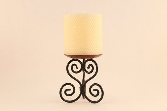 "Hand Rolled Beeswax Pillar 4"" x 4"" Candle - 24 Vivid Color Selection"