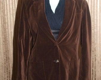 Brown Coats Unite - Retro Brown Velvet Suit Jacket