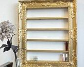 Gold Baroque 16x20 frame display, Polish Rack, Salon Display, Nail Polish, Glam Decor