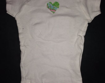 Preppy Lilly Pulitzer Baby Girl Heart Bodysuit