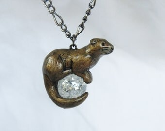 Otter Necklace Pendant Polymer Clay