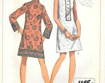 Simplicity 8156-UNCUT 1960s Mod Jiffy Dress Mini Dress Sewing Pattern Junior Petite A Line Dress Sleeveless