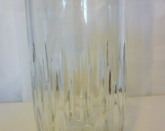 Vintage Clear Pressed Glass Celery Vase, Heavy
