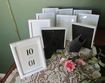 Picture Frames Set of 8 White with Glass and backing Wedding Table Numbers