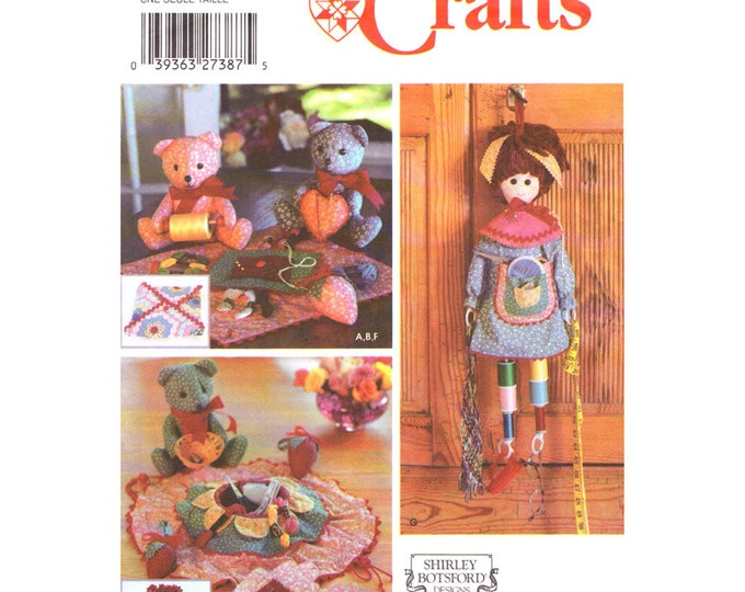 Sewing Room Accessory Pattern Simplicity 5227 Pin Cushion Sewing Kit Needle Holder Fat Quarters