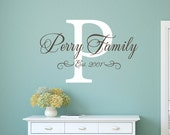 Family Wall Decal - Personalized Family Name Sign - Wedding Decal