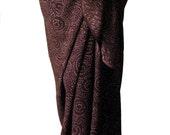 Beach Sarong Batik Sarong - Mens Sarong Beach Wrap - Womens Clothing Swimsuit Coverup - Dark Coffee Brown Sarong Pareo Wrap - Surf Clothes