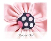 Pink Polka Dot Dog Collar Flower - Bloom Dot