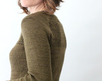 KNITTING PATTERN // Grace cardigan // top down sock yarn lace mesh sweater -- PDF
