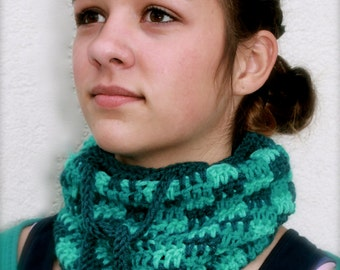 drawstring hat convertible beanie neckwarmer infinity scarf turquoise
