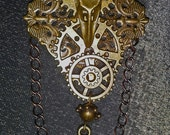 A Clockwork Raven Steampunk Brooch