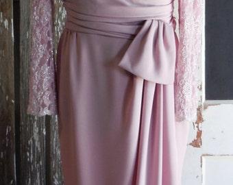 "Swanky JACK BRYAN Beaded Lilac Gown - 40""B"