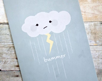 Bummer Storm Cloud Cope, Sympathy, Get Well Soon Card