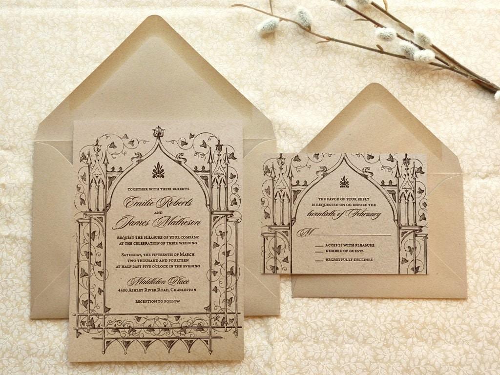 Fairytale Invitations Wedding: Once Upon A Time Kraft Garden Wedding Invitations Fantasy