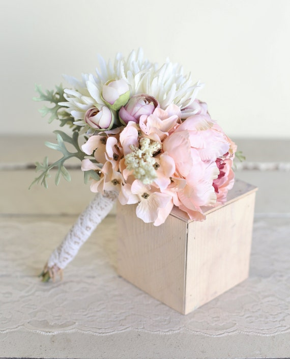 Bridal Bouquet Throwing : Rustic silk bridal toss bouquet country wedding by