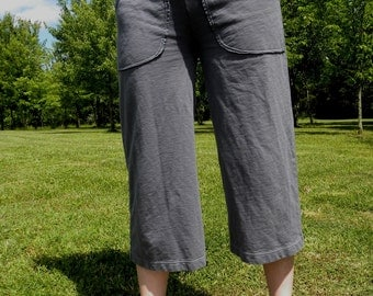 Orchard Pocket Capris Jersey Knit Spandex Handmade  Made in the USA