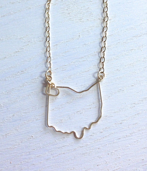 ohio state necklace state necklace custom state by