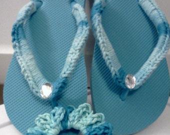 Ladies Flip Flops / Sandals / Shoes / Beachwear Turquoise
