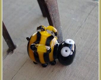 Buzz the Bee Lampwork Bead