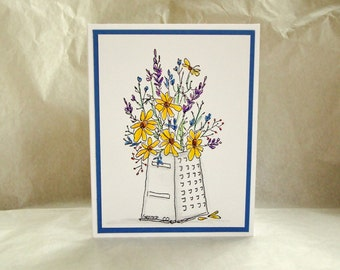 Mother's Day Card, Country Wildflowers Mother's Day Card