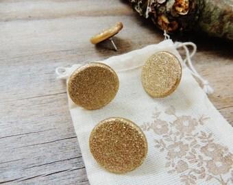 Push Pins Thumbtacks Pushpin Decorative Gold Glitter Wedding Cork Boards Set of 4 Tacks Thumb Tack Message Boards Office Decor