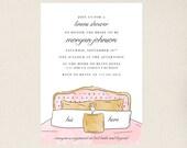 Linens Bridal Shower Invitations