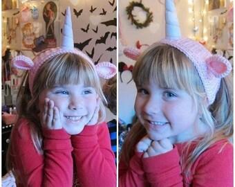 Unicorn Headband Ear Warmer