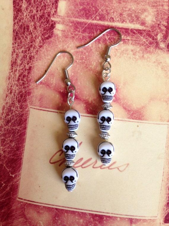 Skulls, Skulls and Skulls  Earrings,