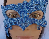 """Lace Ice queen mask """"frozen"""" Inspired embroidered lace mask"""