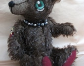 Phineus, brown mohair bear,