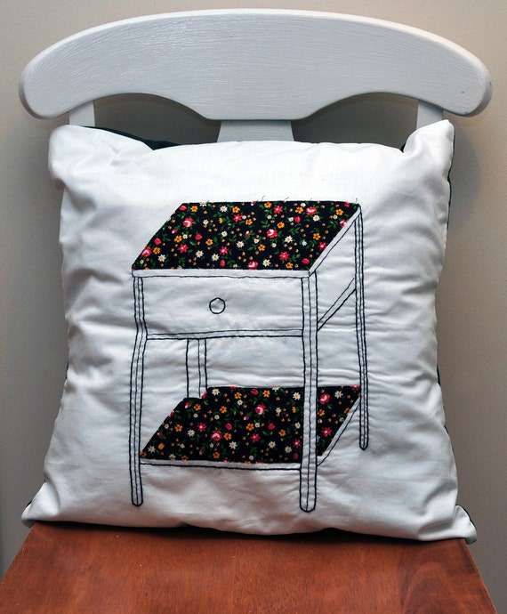 CLEARANCE Embroidered Desk Cushion