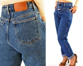 80s Vintage High Waisted Jeans Faded Stone Wash GIRBAUD Jeans / Tapered Leg Denim Blue Jeans 1980s Mom Jeans Large / 27 Waist 80s Mom Jeans