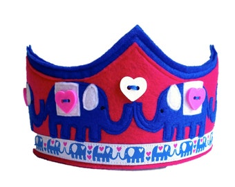 The Elephant Parade Crown - Blue Version
