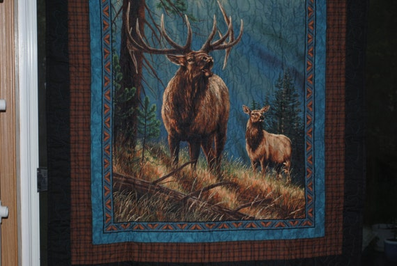"""calling the herd Quilted Wall Art38""""x44"""" Free Domestic S/H !"""