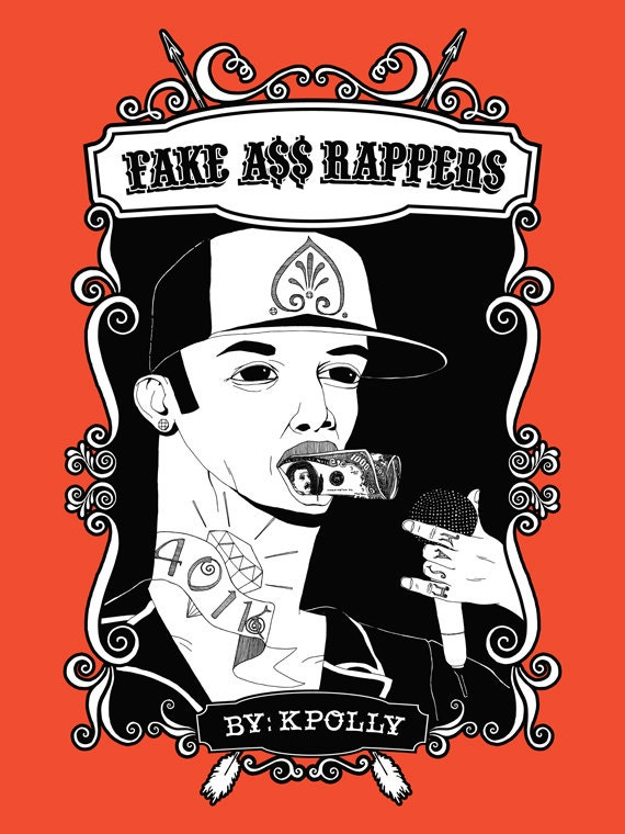 FAKE ASS RAPPERS - a book of imaginary, not real, made-up hip hop icons