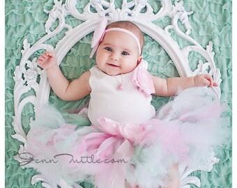 Birthday Tutu | 1st Birthday Tutu Dress | Baby Birthday Tutu | Cake Smash Tutu | Tutu Skirt | Mint and Pink Birthday Tutu