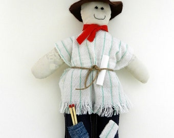 Old Year Rag Doll - New Year's Eve - Eco Friendly