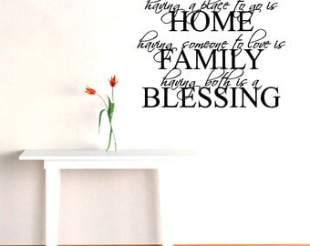 Home Family Blessing - Entryway Wall Decals