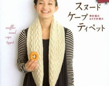 Knit Cowl Scarf, Snood, Stole, Poncho, Tippet, Cape Pattern - Japanese Knitting, Crochet Book for Women Clothing - Let's Knit Series - B1212