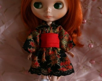 Autumn leaves - Wa Loli Lolita dress for Blythe or Limhwa ToYou