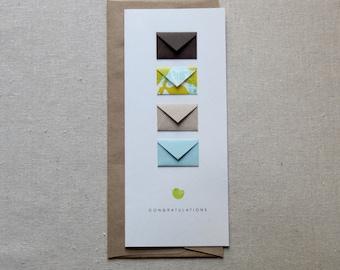 Congratulations Baby Boy - Tiny Envelopes Card