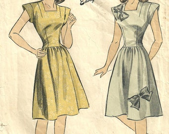 DuBarry 5994 / Vintage 40s Sewing Pattern / Dress / Size 16 Bust 34