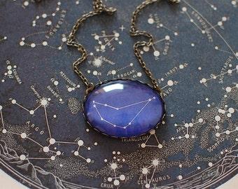 Capricorn Zodiac Necklace. Capricorn Constellation Necklace. Capricorn Necklace. Capricorn Star Sign Necklace. Astronomy. Zodiac Sign.