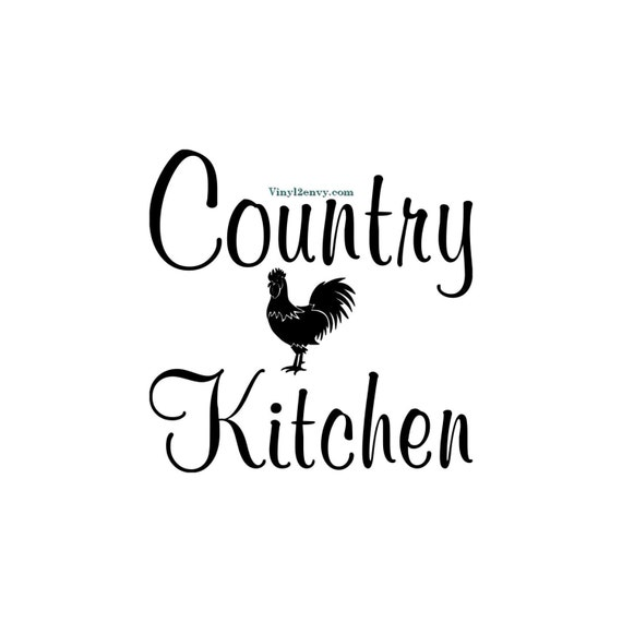 Country Kitchen Sayings And Quotes: Country Kitchen Rooster Wall Decal Vinyl Wall Decals Wall