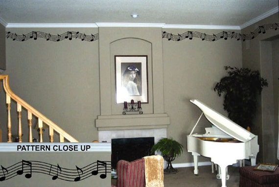 Musical Accent Border Vinyl Wall Lettering Vinyl Wall - Vinyl wall decals borders